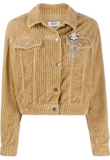 Liu Jo Short Corduroy Jacket - Neutro