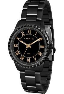Relógio Analógico Lince Feminino - Lrn4561L P3Px Preto