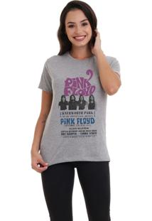 Camiseta Basica Joss Pink Floyd Band Cinza Mescla