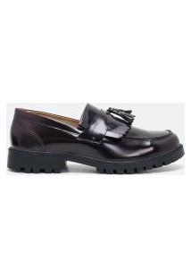 Sapato Masculino Loafer Tratorado Em Couro   Viko   Marrom   42