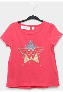 Camiseta Bebê Gap Mulher Maravilha Feminina - Feminino-Vermelho