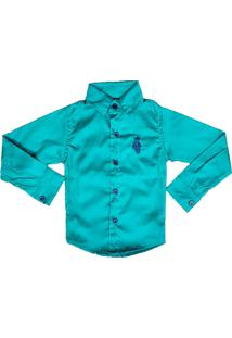 Camisa - Megan - Camisa Manga Longa - Azul