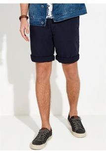 Bermuda Hering Regular Tecido De Algodão Masculina - Masculino-Azul
