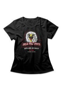 Camiseta Feminina Eagle Fang Karate Preto