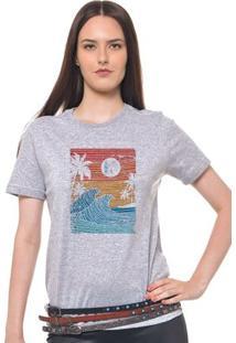 Camiseta Feminina Joss - Wave - Feminino-Mescla
