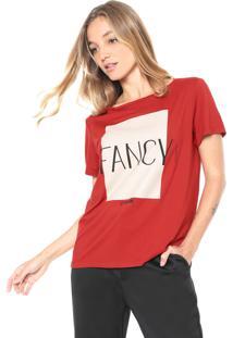 Camiseta Forum Estampada Vermelho