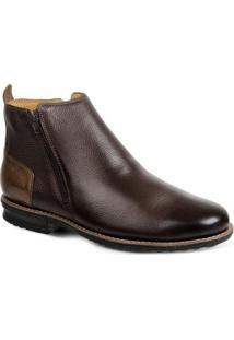 Bota Dress Boot Masculina Sandro & Co Floater Good - Masculino-Cafe