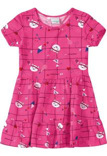 Vestido Peplum Gatinho Menina Malwee Kids