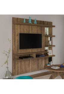 Painel Para Tv Até 47 Polegadas Com 5 Prateleiras Premium Artely Pinho