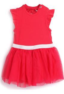 Vestido Tip Top Liso Vermelho
