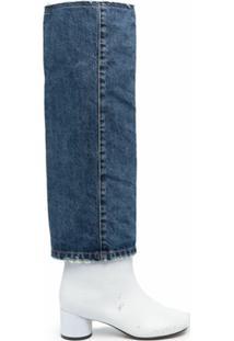 Mm6 Maison Margiela Bota Jeans - Azul