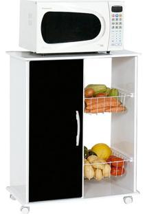 Gabinete De Cozinha Iana Com Fruteira 1 Pt Branco E Preto