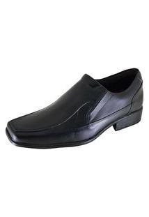 Sapato Social Bico Quadrado Com Elástico Mah 980-60 Preto