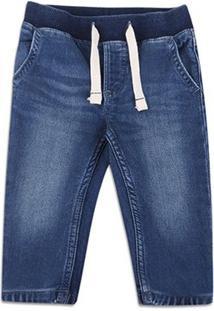 Calça Jeans Infantil Gap Elástico Cordão Masculina - Masculino-Jeans