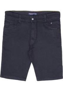 Bermuda Jeans Plus Size Prs Masculina - Masculino-Preto