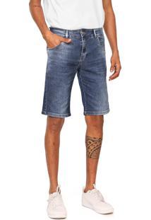 Bermuda Jeans Rock&Soda Reta Estonada Azul