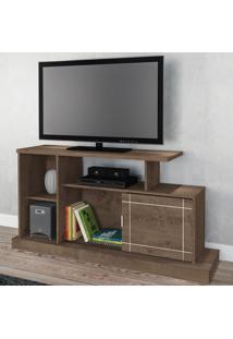 Rack Para Tv Até 47 Polegadas Aruba 1 Porta Moccacino Rústico - Atualle Móveis