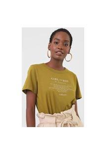 Camiseta Colcci Girl From Rio De Janeiro Verde