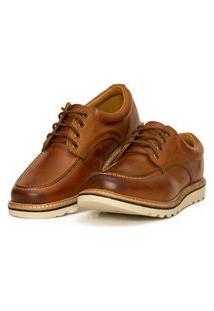 Sapato Moc Toe Couro Confort Boston Avelã Ranclafe Marrom