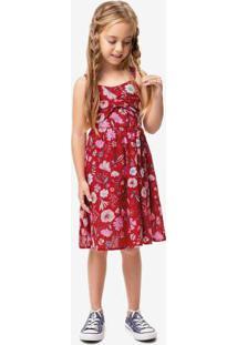 Vestido Vermelho Laço Menina Malwee Kids