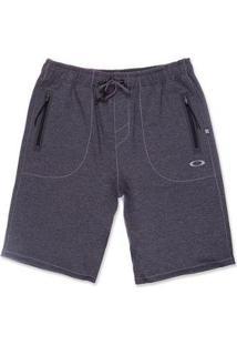 Bermuda De Passeio Link Series Fleece Short Oakley Masculino - Masculino-Preto