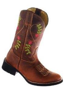 Bota Couro Garrutti Boots Country Bordada Masculina - Masculino