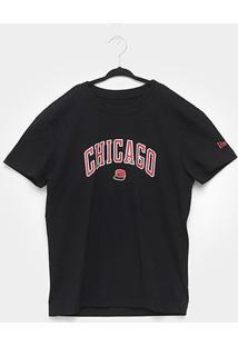 Camiseta Infantil Nba Chicago Bulls Cap Masculina - Masculino