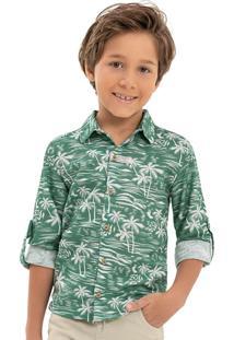 Camisa Biarritz Tropical Verde