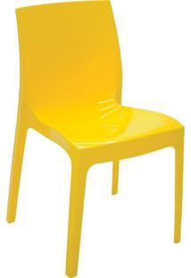 Cadeira Tramontina 92037000 Alice Com Encosto Amarela