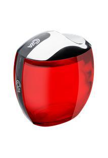 Porta Algodão/Cotonetes Spoom Classic 10,8 X 10,6 X 8,5 Cm Vermelho Transparente Coza