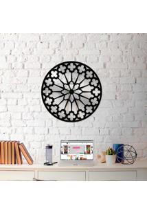 Escultura De Parede Wevans Mandala Premium + Espelho Decorativo