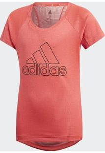 Camiseta Treino Climachill Adidas Feminina - Feminino-Vermelho