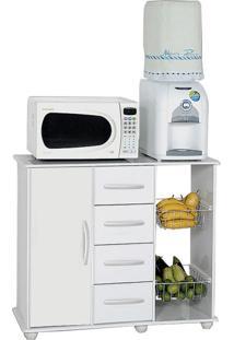 Gabinete De Cozinha Camila Com Fruteira 1 Pt 4 Gv Branco