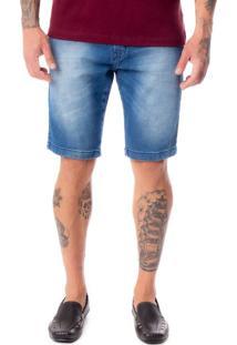 Bermuda Jeans Masculina Dixie Azul - 40