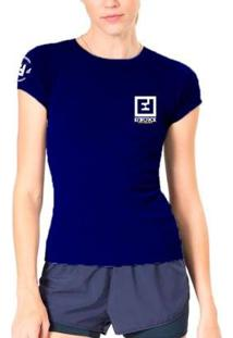 Camiseta Baby Look Feminina De Treino - Enforce Fitness-M-Azul Claro - Feminino-Azul Escuro