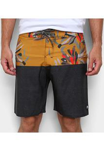 Boardshort Hang Loose Flowerbow Masculina - Masculino-Amarelo