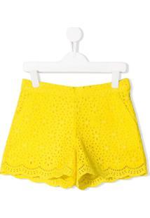 Msgm Kids Short Giallo - Amarelo