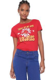 Camiseta Dzarm Estampada Vermelha