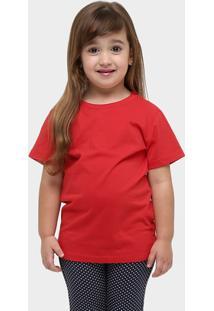 Camiseta Blank Basic Infantil - Feminino