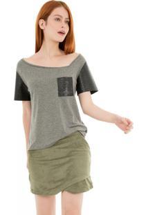 Camiseta Gola Assimétrica 41Onze - Mescla - Tricae