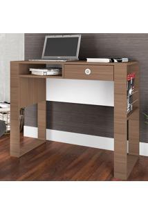Mesa Para Computador Com 1 Gaveta E 2 Prateleiras Paris Es900 - Art In Móveis - Montana