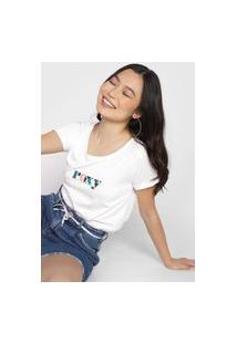 Camiseta Roxy High On Time Branca