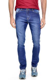 Calça Jeans Tex-Five Reta Azul