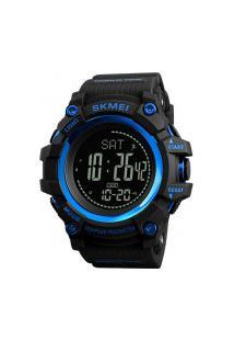 Relógio Skmei Digital -1356- Preto E Azul