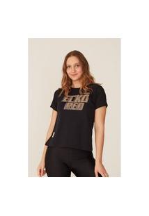 Camiseta Ecko Feminina Estampada Preta