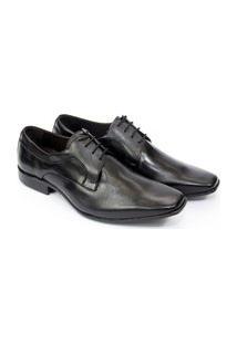 Sapato Masculino Social Preto Couro N. Itália R-9904