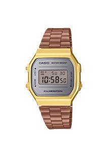 Relógio Digital Casio Vintage Unissex - A168Wecm5Df Rosê