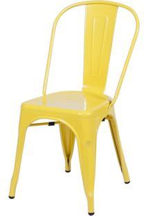 Cadeira De Jantar Retrô Ór Design Amarelo