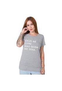 Camiseta Deus Me Livre Cinza Stoned