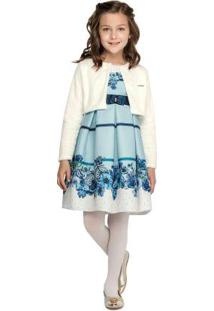 Vestido Azul Menina